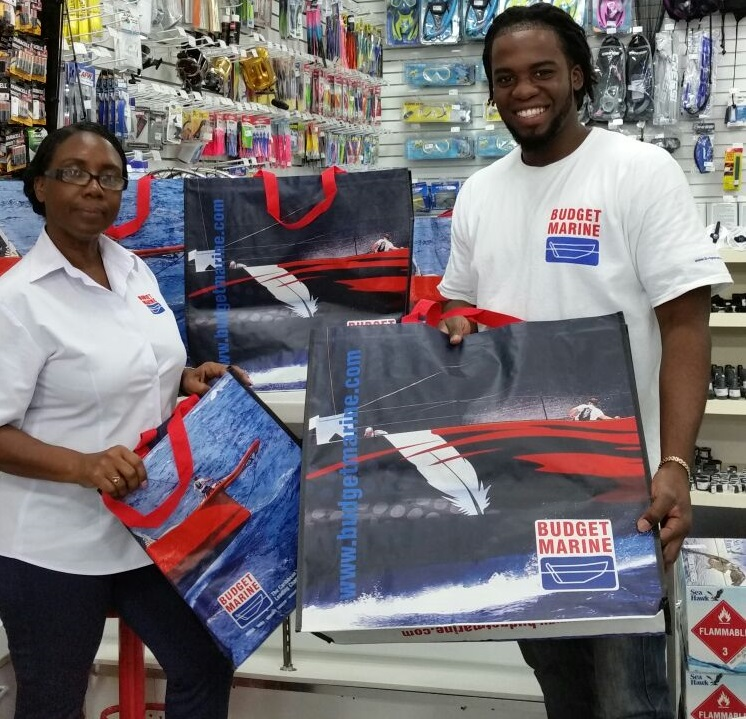 Budget Marine Antigua introduces eco-friendly, reusable shopping bags
