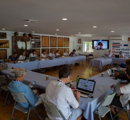 Caribbean Sailing Week: thrills and spills on the water, discussions in the conference room.