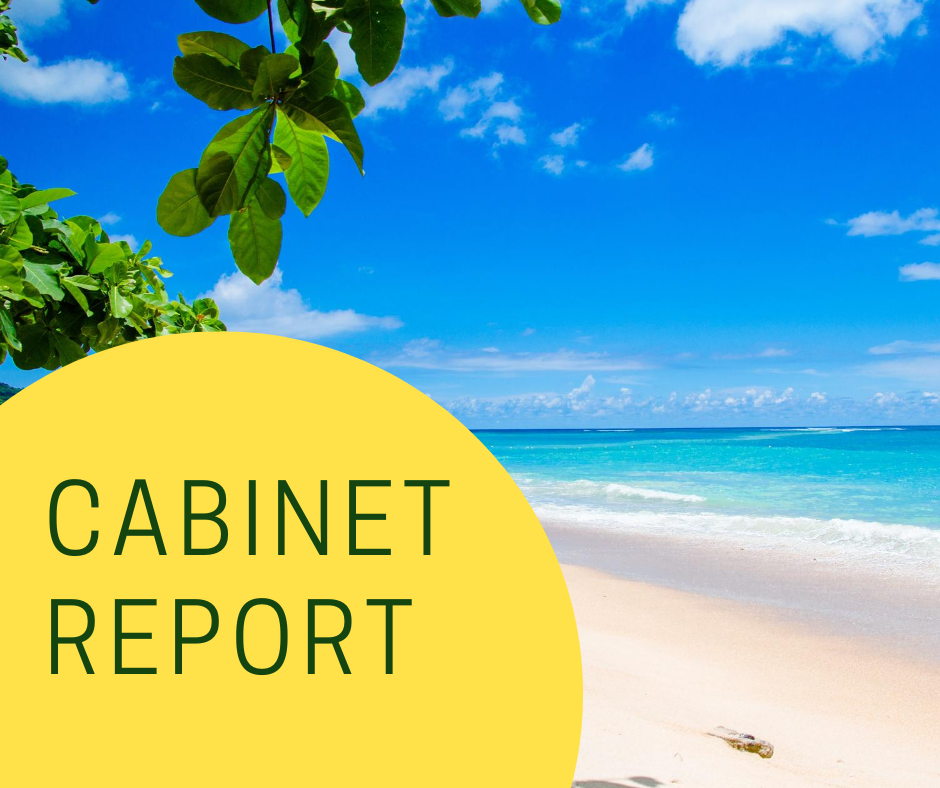 Hurst Reports on Cabinet of Wednesday, July 22, 2020