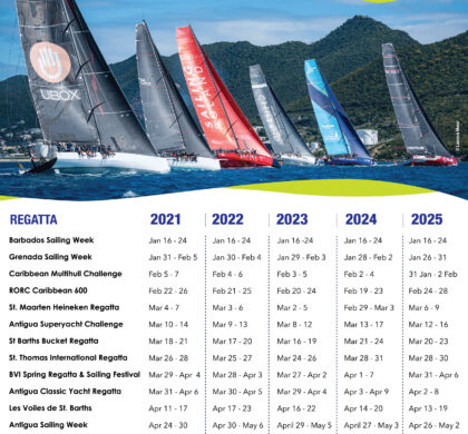 Caribbean Sailing Association International 5 year Calendar