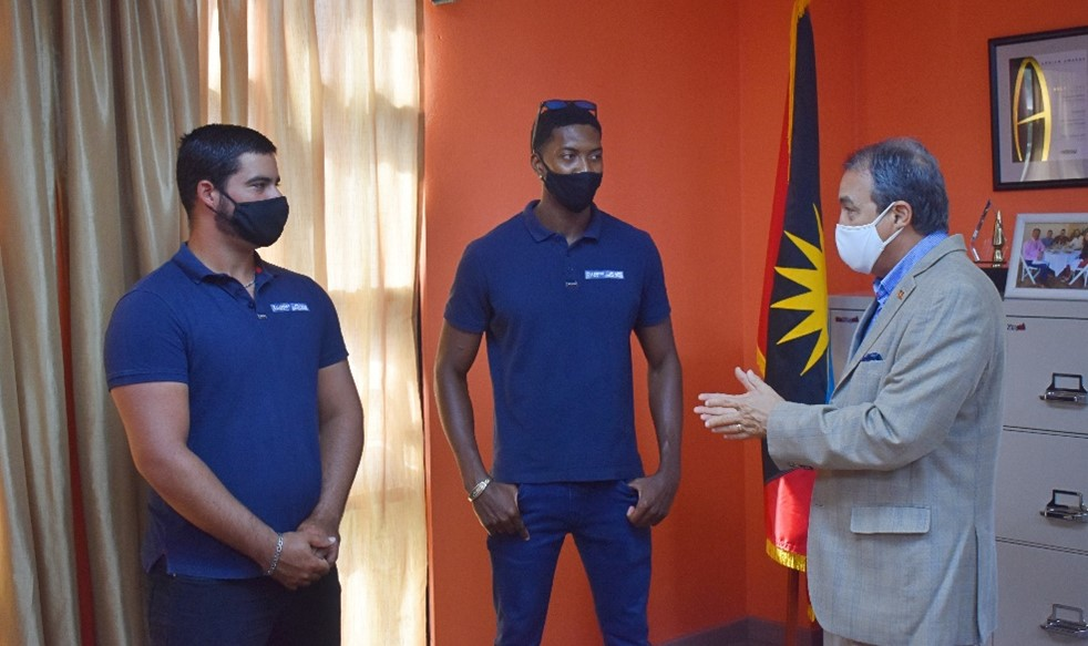 Minister of Tourism offers well-wishes to Atlantic Challenge Duo, as Antigua and Barbuda Adventurous Nautical Powess is Tested